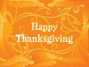 Closed – Thanksgiving